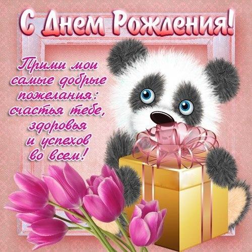 Поздравления с днём рождения милой девушке